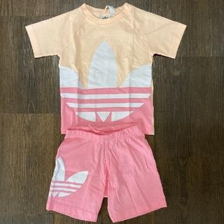 アディダス(adidas)のF様専用⭐︎adidas 女の子 トレフォイル セットアップ 半袖 80cm(Tシャツ)