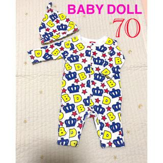 BABYDOLL - 【美品】BABY DOLL 帽子付きロンパース