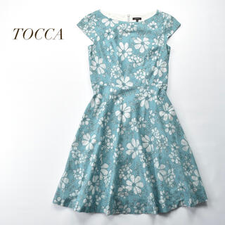 TOCCA - 美品 TOCCA 花柄 オーガンジー刺繍 レース ワンピース 定価75900円