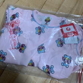 ヒステリックミニ(HYSTERIC MINI)のヒスミニ テディ チュニック ピンク 90(Tシャツ/カットソー)