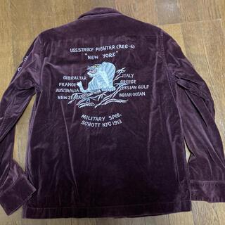 ショット(schott)の【希少】Schott NYC/刺繍スーベニアシャツ/サイズS/ボルドー(シャツ)