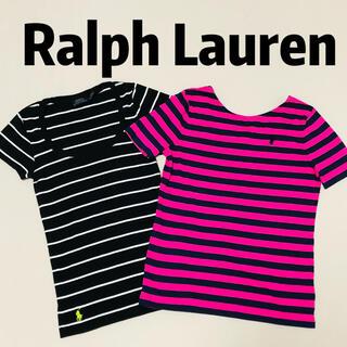 POLO RALPH LAUREN - ラルフローレン POLO ボーダー 半袖 Tシャツ 2点セット 美品