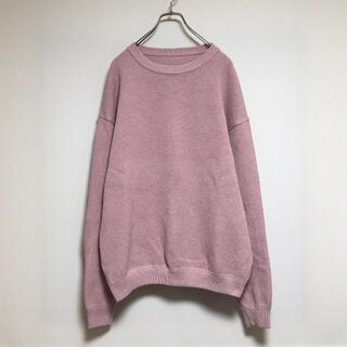 アンユーズド(UNUSED)のcrepuscule knit sweater kanoko pink(ニット/セーター)