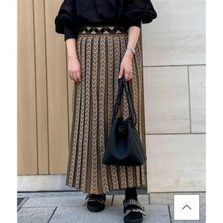 mame - 新品タグ付き 20AWmame kurogouchi プリーツニットスカート