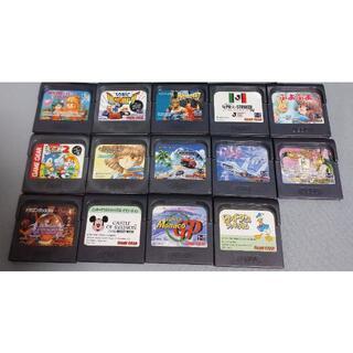 セガ(SEGA)のゲームギア ソフト14本セット(携帯用ゲームソフト)