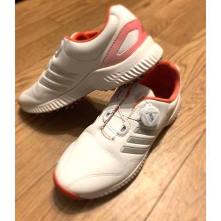 アディダス(adidas)のUSED アディダス ゴルフシューズ ボア adidas レディース(シューズ)