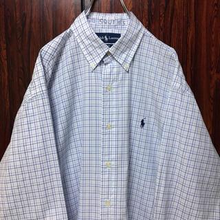 Ralph Lauren - ラルフローレン 刺繍ロゴ BDシャツ チェック柄 M ビッグシルエット