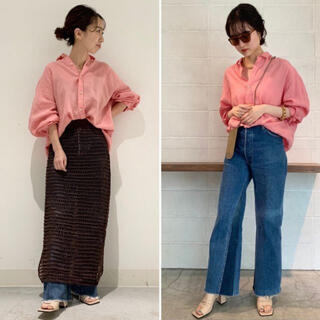 Plage - 21SS 完売品 新品未使用 Plage Linenボリュームシャツ ピンク