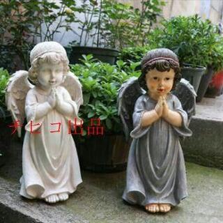 T上品 子供の天使 インテリア置物 雰囲気洋風オブジェ 庭飾り装飾エンジェル(彫刻/オブジェ)