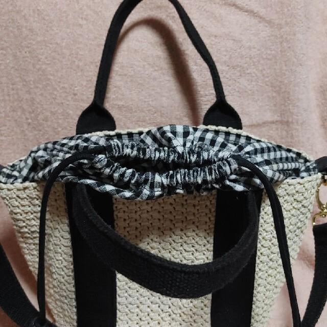 巾着のようなかごショルダーバッグ レディースのバッグ(ショルダーバッグ)の商品写真