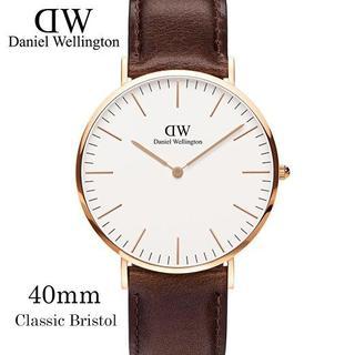 ダニエルウェリントン(Daniel Wellington)のDaniel Wellington40mm0109DW ゴールド×ダックブラウン(腕時計(アナログ))