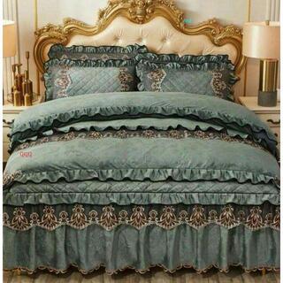 ワイドダブル ベッド用品4点セット .寝具 枕カバー掛け布団カバー ベッドパ0(シーツ/カバー)