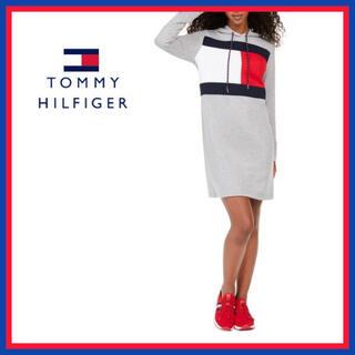 TOMMY HILFIGER - トミー フィルフィガー★フード スウェット ワンピース  US/XSサイズ