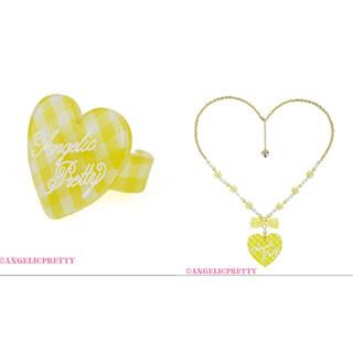 アンジェリックプリティー(Angelic Pretty)のLovelyギンガムネックレスリングset(リング(指輪))