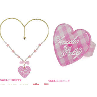 Angelic Pretty - Lovelyギンガムネックレスリングset