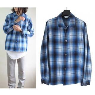 アンユーズド(UNUSED)のUNUSED オンブレチェック パジャマ シャツ ブルー (シャツ)