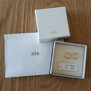 ete - エテ K10フープピアス