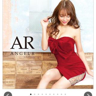 AngelR - angel R リボン タイト シースルー ドレス S 赤 キャバドレス