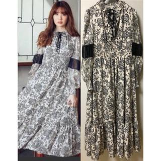 snidel - Herlipto Winter Floral Long Sleeve dress