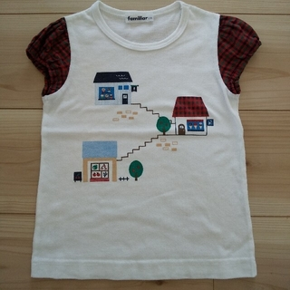 ファミリア(familiar)のfamiliar Tシャツ チェック 110(Tシャツ/カットソー)