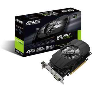 エイスース(ASUS)のASUS NVIDIA GeForce GTX1050TI搭載ビデオカード(PCパーツ)