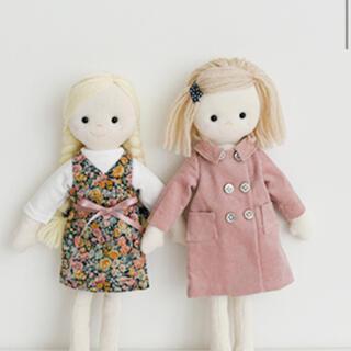 ボンポワン(Bonpoint)のチェックアンドストライプ  お人形 お着替えのキット(型紙/パターン)