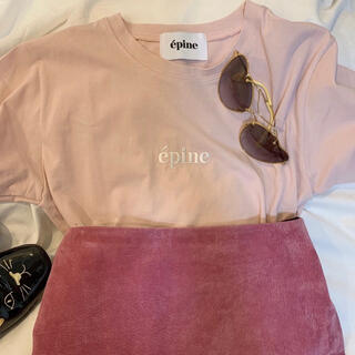 Lochie - epine embroidery tee baby pink