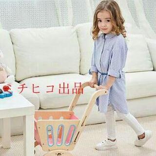 子供のおもちゃの木制カート女の子のスーパー赤ちゃんカート(手押し車/カタカタ)
