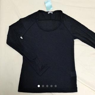 アクアガール(aquagirl)の新品 アクアガール ブラックカットソー(Tシャツ(長袖/七分))