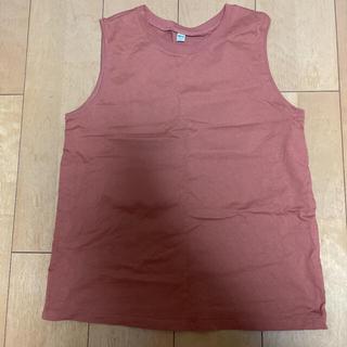 ユニクロ(UNIQLO)のUNIQLO コットンノースリーブTシャツ(Tシャツ(半袖/袖なし))