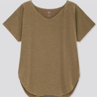 ユニクロ(UNIQLO)のUNIQLOエアリズム シームレスVネック ロングT Lサイズ1点(Tシャツ(半袖/袖なし))