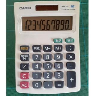 CASIO ソーラー10桁電卓