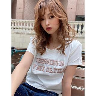 リゼクシー(RESEXXY)のリゼクシー ロゴ刺繍Tシャツ(Tシャツ(半袖/袖なし))