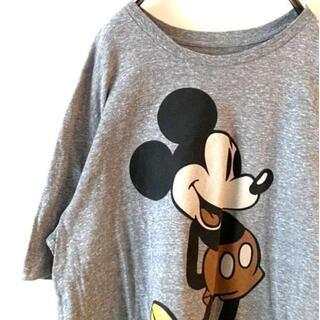 ディズニー(Disney)のDisney ディズニー ミッキーマウス Tシャツ グレー XL 古着ビンテージ(Tシャツ/カットソー(半袖/袖なし))