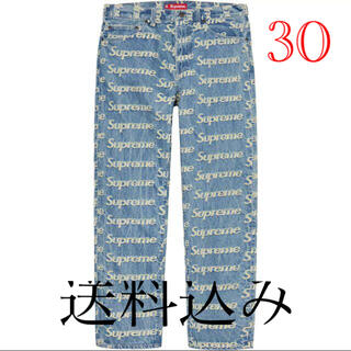 Supreme - 30 Supreme Frayed Logos Regular Jean 新品
