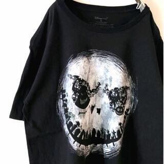 ディズニー(Disney)のDisney Tシャツ XL  ブラック 黒 古着(Tシャツ/カットソー(半袖/袖なし))