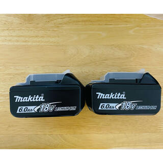 Makita - 最新型  純正 マキタ バッテリー 18V 6.0Ah BL1860B  2個