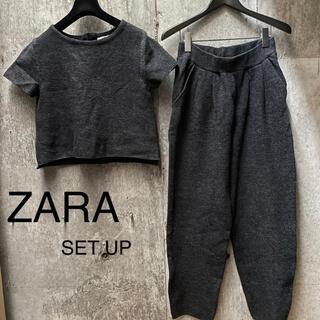 ザラ(ZARA)の美品☆ZARA 半袖ニット セットアップ パンツ Mサイズ(セット/コーデ)