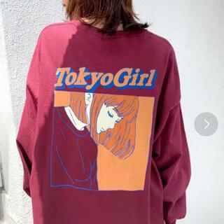 フーズフーギャラリー(WHO'S WHO gallery)のTOKYOGIRL カラーフレームL/S TEE(Tシャツ(長袖/七分))