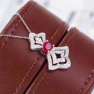 天然 ルビー ダイヤモンド ペンダントトップ約 0.5ct k18 z(ネックレス)
