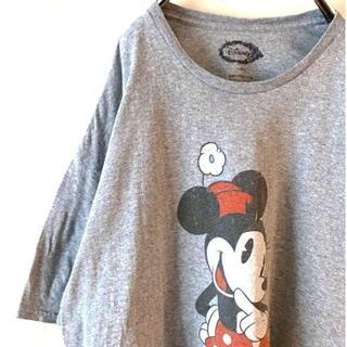ディズニー(Disney)のDisney ディズニー ミニーマウス Tシャツ グレー 2XL 古着(Tシャツ/カットソー(半袖/袖なし))