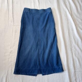 ユニクロ(UNIQLO)のユニクロ デニム ロング スカート M(ロングスカート)