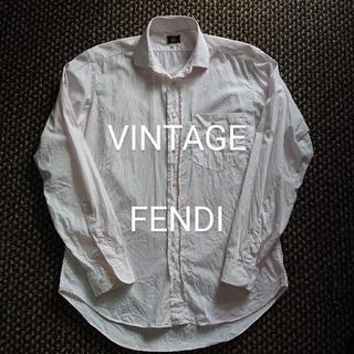 フェンディ(FENDI)のビンテージ FENDI ロンドンストライプシャツ プラダ グッチ セリーヌ(シャツ)