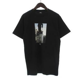 ステューシー(STUSSY)のステューシー Tシャツ 半袖 丸首 クルーネック ロゴ プリント フォト 黒 S(Tシャツ/カットソー(半袖/袖なし))