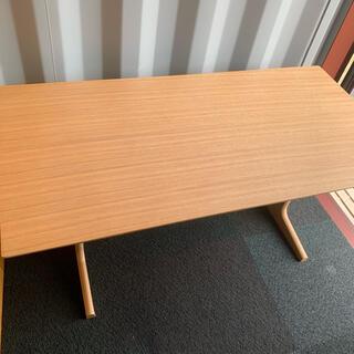 ムジルシリョウヒン(MUJI (無印良品))の無印良品 リビングでもダイニング テーブル 机 オーク材 ローテーブル 美品(ダイニングテーブル)