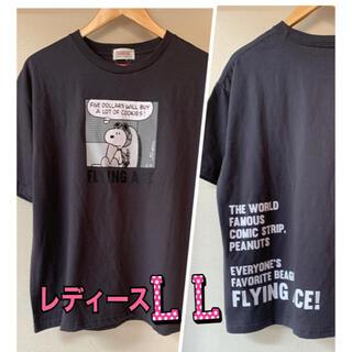 ピーナッツ(PEANUTS)の新品 PEANUTS  スヌーピー Tシャツ  半袖 レディース LLサイズ(Tシャツ(半袖/袖なし))