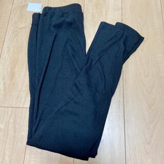 シマムラ(しまむら)の新品しまむら ブラック 黒 裾スリット リブレギンス(レギンス/スパッツ)