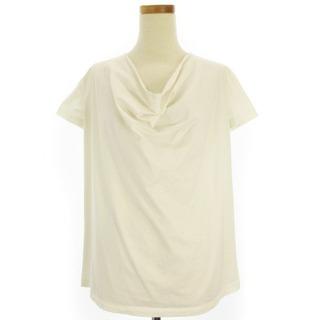 ジルサンダー(Jil Sander)のJIL SANDER Tシャツ カットソー 半袖 ドレープ 無地 白 S(Tシャツ(半袖/袖なし))