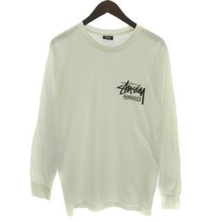 ステューシー(STUSSY)のSTUSSY Tシャツ カットソー長袖 ロゴ プリント ホノルル S(Tシャツ/カットソー(七分/長袖))