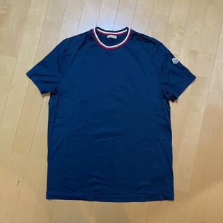 MONCLER - 【新品未使用】モンクレール トリコロール ネック Tシャツ ネイビー